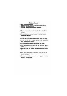 identify the relative clause worksheet by talktokt3