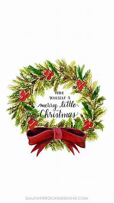 merry christmas wreath phone wallpaper free download by zion designs december
