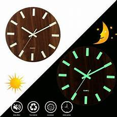 Glow Mute Wood Wall Clock by Wall Clock Glow In The Silent Quartz Indoor Living