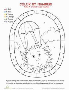 nature worksheet for kindergarten 15159 window color by number worksheet education