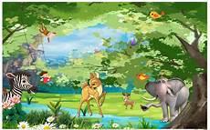 49 Gambar Kartun Binatang Di Hutan Inspirasi Baru