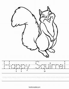 happy squirrel worksheet twisty noodle