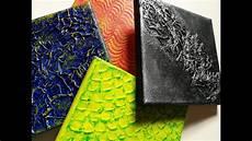 peinture pour tutoriel peinture 4 techniques de texture avec du gesso