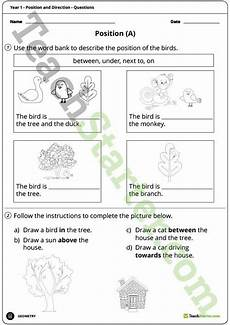 teaching directions year 1 11789 geometry worksheets position and direction year 1 teaching resource teach starter