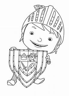 mike the with shield coloring page color