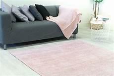 teppich hellrosa teppich 160 x 230 cm wolle faliraki hellrosa