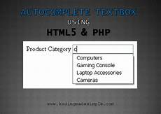 autocomplete textbox using html5 datalist php and mysql