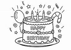 Malvorlagen Happy Kostenlose Geburtstagstorten Bilder Zum Ausmalen Kerze