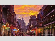 Bourbon Street in New Orleans at Sunset   Other