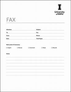 fax cover sheet brand toolkit brand resource center university of idaho