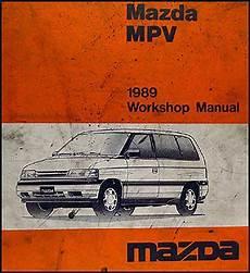 service and repair manuals 1993 mazda mpv electronic throttle control 1989 mazda mpv repair shop manual original