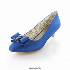 Blue Kitten Heel Wedding Shoes