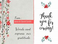 thank you card template copy of floral thankyou card template postermywall