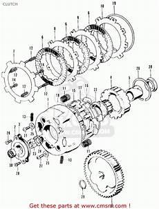 honda ct90 trail 1971 k3 usa clutch schematic partsfiche