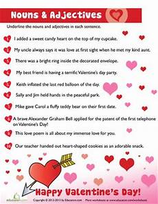 s day adjectives worksheets 20304 17 best images about free printables on word search and valentines