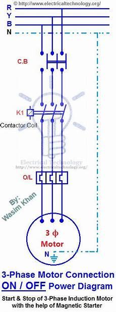 off three phase motor connection control diagram diagramas electricos pinterest motors
