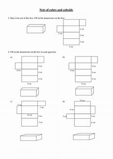 nets of cubes and cuboids worksheet nets of cuboids by coltnessperry teaching resources tes