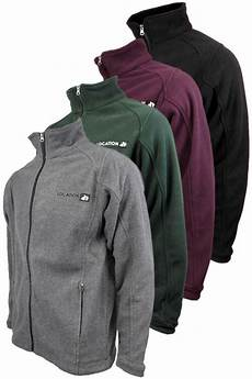 mens location zip warm polar fleece jacket anti pill