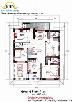 khd house plans home plan and elevation 1800 sq ft kerala home dezign