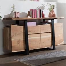 sideboard akazie finebuy sideboard akazie kommode massiv holz 175x90x44cm