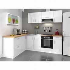 cuisine blanche laquée cosy cuisine compl 232 te 2m80 laqu 233 blanc achat vente