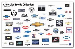 Chevrolet Bowtie Collection Art Poster ChevyMall