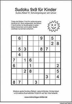 kinder sudoku zum kostenlosen ausdrucken mit l 246 sung malvor