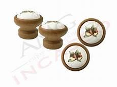 pomelli in ceramica per mobili pomolo pomello castagna p09 legno scuro rotondo inserto