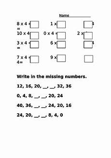 worksheets tes 19072 4 times table differentiated revision worksheet teaching resources