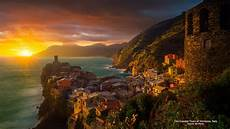 Vernazza Italy At Sunset Hd Wallpaper Background Image