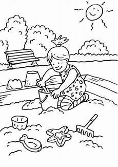 Schule Und Familie Ausmalbilder Sommer Kostenlose Malvorlage Sommer Sandkasten Zum Ausmalen