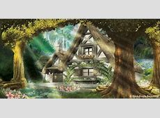 Mystic Forest & Cottage. #backdrops #mystic #forest