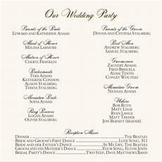 wedding program wedding ceremony order of events order of ceremony for wedding program hydrothepiratebay