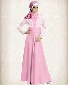 Gamis Pesta Modern Pink Cavalli Elegan Wanita Gaun Muslim