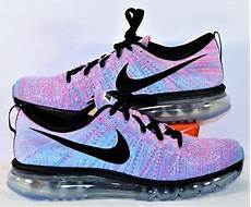 nike flyknit air max blue pink black running shoes