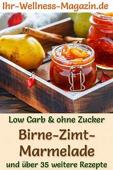 Low Carb Birnen Zimt Marmelade Fruchtaufstrich Rezept