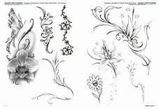 fiori di loto e farfalle flower tattoos 3