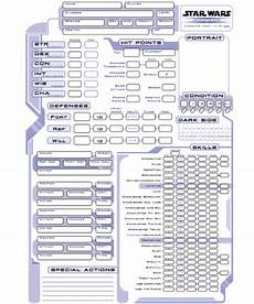 star wars saga edition character sheet printable pdf
