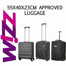 cabin baggage wizzair wizz air 55x40x23cm approved luggage cabin holdall