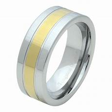 tungsten carbide mens comfort fit wedding band ring silver gold ip inlay 8mm ebay