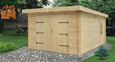 garage de jardin pas cher garage toit plat bois en kit stmb
