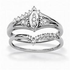 palmbeach jewelry 1 10 tcw diamond 10k white gold marquise shaped bridal engagement ring