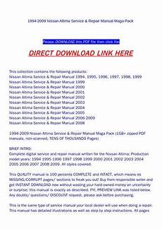 how to download repair manuals 2002 nissan altima electronic throttle control 1994 2009 nissan altima service repair manual maga pack by backoiiew2 issuu