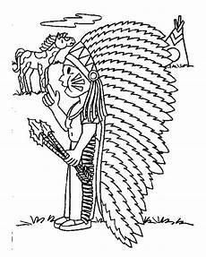 malvorlagen indianer gratis