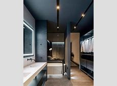 Open plan dressing room and bathroom   Hotel bathroom