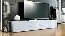 New White High Gloss Tv Stand Media Entertainment Center