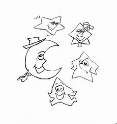 Malvorlage Sterne Und Mond Sterne Und Mond Ausmalbild Malvorlage Phantasie