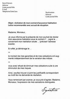 Lettre De R 233 Siliation Assurance Habitation Gmf Mod 232 Le