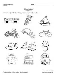 transportation worksheets for pre k 15224 snapshot image of transportation classifying worksheet 3 preschool worksheets