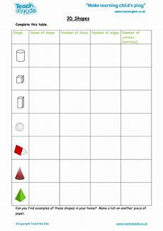 3d shapes worksheet early years 1107 3d shapes tmk education